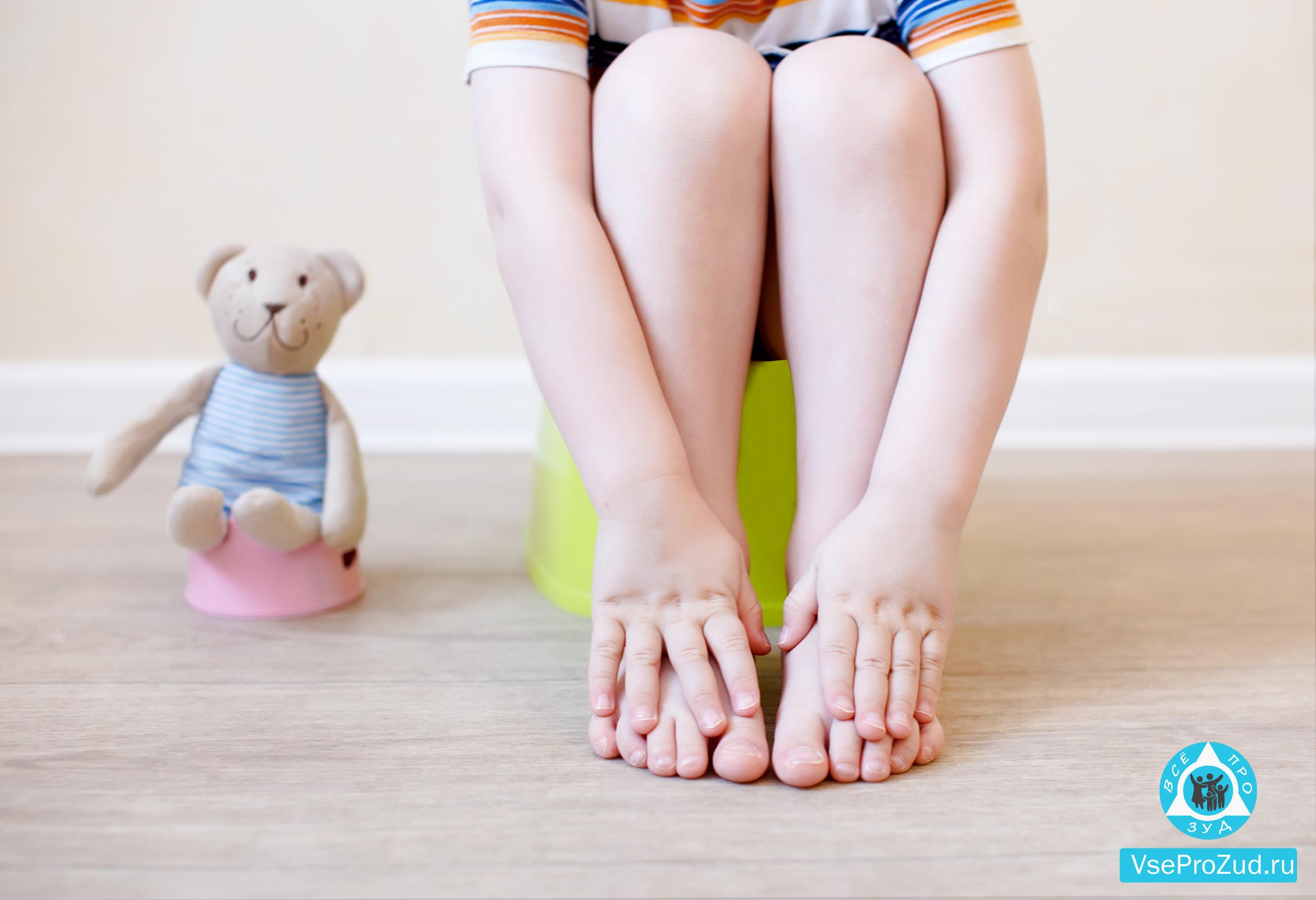 Зуд стоп у ребенка