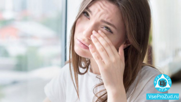 Аллергия на глазном веке