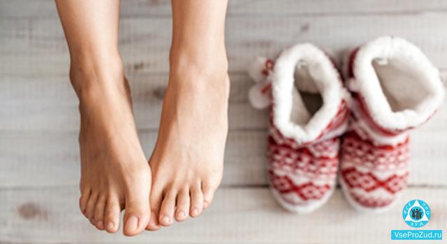 Чешутся ноги зимой